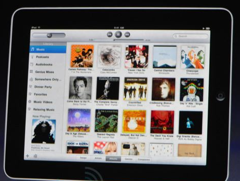 As you can see from the first shots arriving from Keynote, the iPad